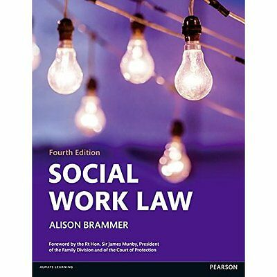 Social Work Law 4e Brammer Pearson Education Limited Paperback / . 9781408294055