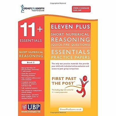 11+ Essentials Short Numerical Reasoning for CEM Book 2 Eleven Pl. 9781908684448