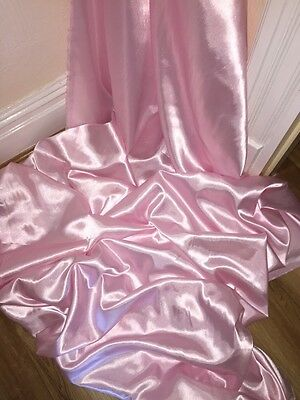 1 MTR BABY Pink Satin Lining Fabric   58