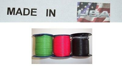 18 ga 300' FEET X 3 ROLLS PRIMARY WIRE RED, BLACK, GREEN INSULATED STRANDED