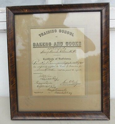 World War One Bakers & Cooks School Diploma 330th Inf. Camp Sherman Ohio 1917