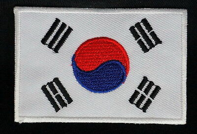 "SOUTH KOREA FLAG EMBLEM PATCH SEW ON EASY TO USE 2""x3"""