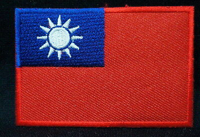 "TAIWAN EMBLEM PATCH SEW ON EASY TO USE 2""x3"""