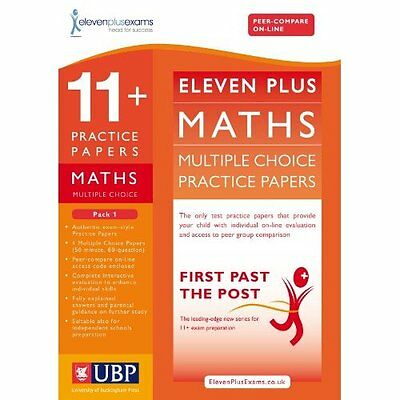 11+ Maths Multiple Choice Practice Papers Pack 1 Eleven Plus Exam. 9781908684110
