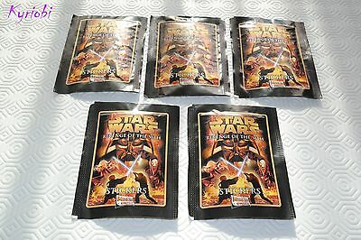 Lot 5 x 5 Stickers images STAR WARS Revenge of the Sith ♦ Merlin style panini
