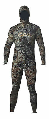 1.5Mm Camo Freediving Spearfishing Wetsuit
