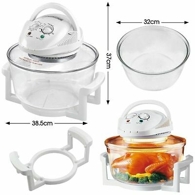 White 12Litre 1400W Halogen Convection Oven Multi Cooker Kitchen Roast Meals New