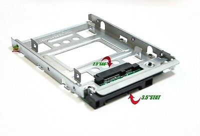 """HP 654540-001 New 2.5"""" to 3.5"""" SATA  HDD SSD SAS Hard Disk Carrier Caddy"""