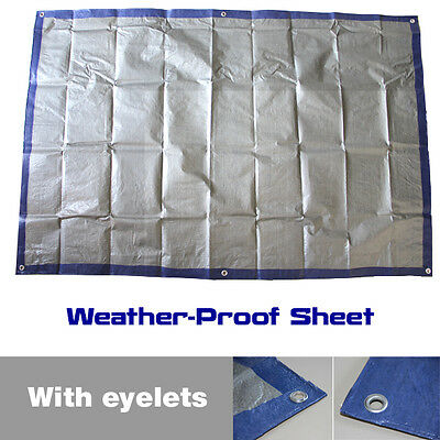 Waterproof Tarpaulin - Heavy Duty Lightweight Camping Ground Sheet Boat Cover