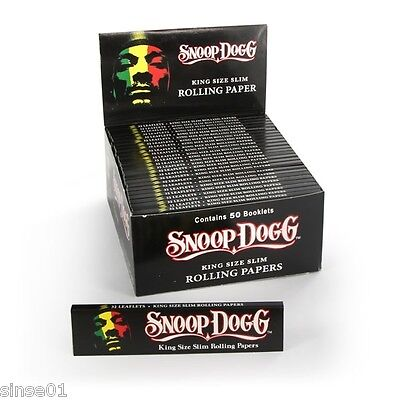 Papel Snoop Dogg King Size Slim 10 librillos Smoking Paper X10 bookets