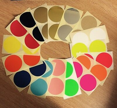 ROUND SELF ADHESIVE Labels Stickers Code Dots Price Coloured