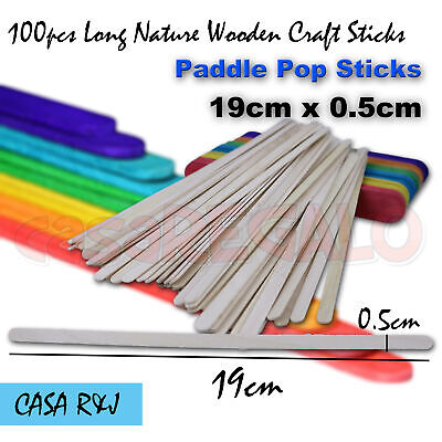 100pc Coffee Tea Stirrers Stirrer Natural Wooden Craft Sticks Paddle Pop Stick