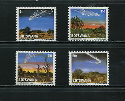 Botswana  1986  #380-3   comet space Halley  4v.  MNH   F563