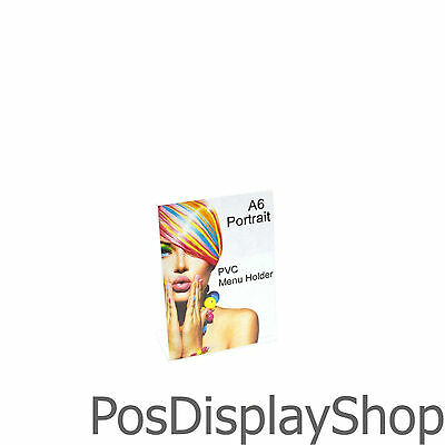 SALE: 25 x A6 Portrait Angled Menu / Card / Display Holder in PVC - PDS8524