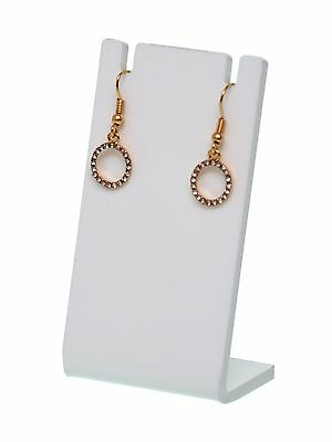 Earring Necklace Jewelry Show White Acrylic Display Rack Stand Holder Earing