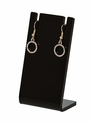 Earring Necklace Jewelry Black Acrylic Counter Display Stand Holder Earing