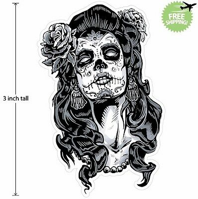 3 inch Mexican Sugar Skull Phone Decal Sticker Day of the Dead #14