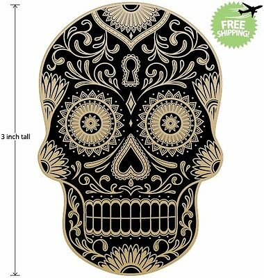 3 inch Mexican Sugar Skull Phone Decal Sticker Day of the Dead #44