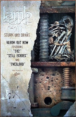 LAMB OF GOD VII Sturm Und Drang Ltd Ed RARE New Poster +FREE Metal Rock Poster!