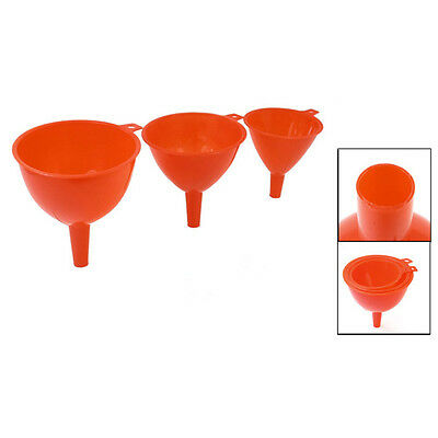 Kitchen Plastic 3 in 1 Water Filler Tool Round Funnels Red LW