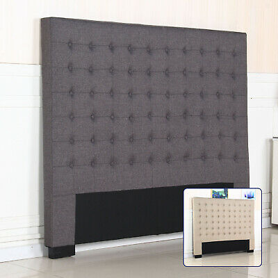 New Bed Head Headboard Double Queen King Fabric Stylish Tufted Fabric Cilantro