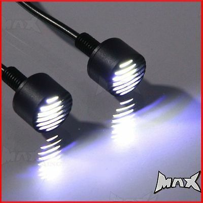 Black Micro DRL LED Grill Bolts Daytime Running Lights