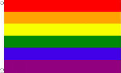 Gay Pride Rainbow  Flag  Festival Carnival 5Ft X 3Ft