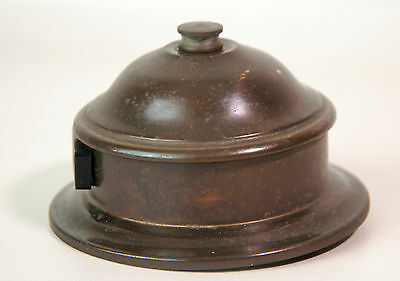 Vintage round metal electric receptacle cover