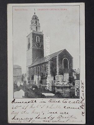 Ireland CORK Shandon Church c1905 by Emerald (PM) Queen Victoria 1/2d Stamp