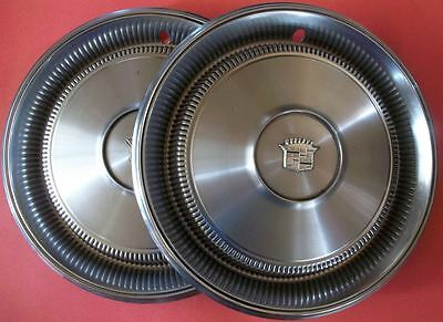 cadillac deville lot of 2 hub caps wheel covers 15 inch made in usa d