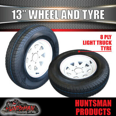 13 x 4.5 155 Sunraysia Ht Holden Wheel Rim and Tyre White Trailer Caravan Boat