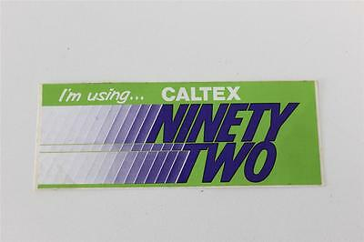 Caltex small green sticker - I'm Using Caltex Ninety Two