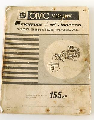 OMG 155HP 1968 Evinrude and Johnson Stern Drive workshop manual