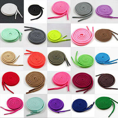4mm ROUND SHOE LACES 120cm *31 COLOURS* TRAINERS REPLACEMENT PAIRS NEW CHILDREN