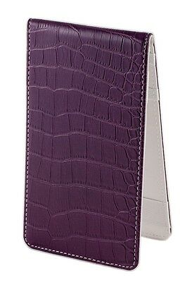 SS Tour | Crocodile Golf Scorecard & Yardage Book Holder Purple/Wht Leather New