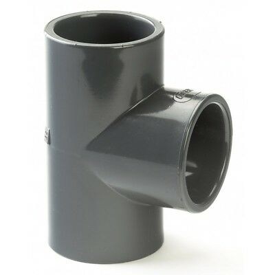 PVC /PVCu Pipe Fittings Solvent Cement Plain Tee 90° Imperial