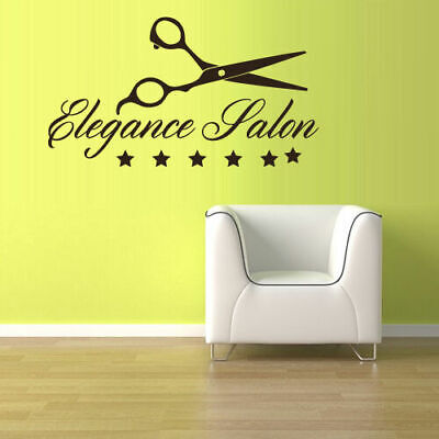 Wall Vinyl Sticker Decals Scissors Hairdresser Barber Salon Shop Sign (Z3088)