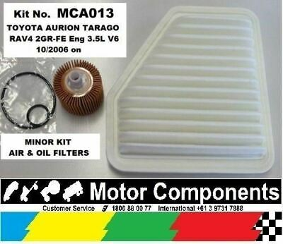 Service Kit TOYOTA Aurion Rav 4 Tarago AIR & OIL FILTER 2GR-FE 3.5L V6  2006 on