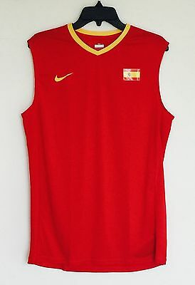 Nike Men's Fit Dry Sleeveless Spain Tennis Top Shirt Red