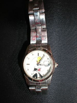 Fossil Loony Tunes STAINLESS STEEL WATCH FOR DISNEY VINTAGE 80S