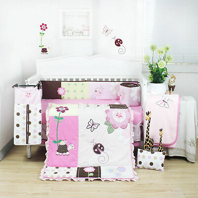5 Pcs Beautiful Giraffe Design Baby Boy Girl Crib Cot Bedding Quilt Set KLF233