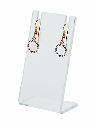 Lot of 24 Earring Necklace Jewelry Clear Acrylic Display Stand Holder Earing