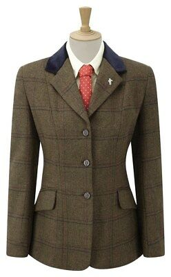 Caldene Silverdale Maids Tweed Horse Riding Show Jacket  ALL SIZES & COLOURS
