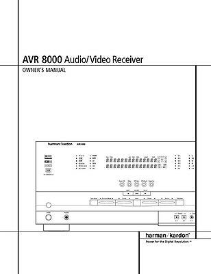 Harman kardon avr-320 av receiver owners manual $18. 99 | picclick.