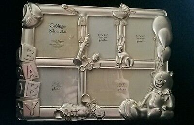 Goldinger silver art silverplated baby picture frame