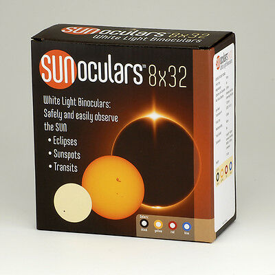 Solar Viewing Binoculars (Black). View the transit of Mercury and Solar Eclipse