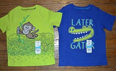 Jumping Beans Monkey T-Shirt or Later Gator Short Sleeve Top Tee Toddler Sizes