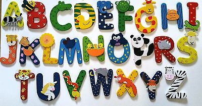 Wooden Animal letters childrens bedroom doors walls christening birthday