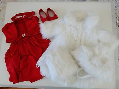 """NEW-DOLL CLOTHES - Lot #151-Dress/Coat/Hat/Shoes fit 18"""" Doll such as AG Dolls"""