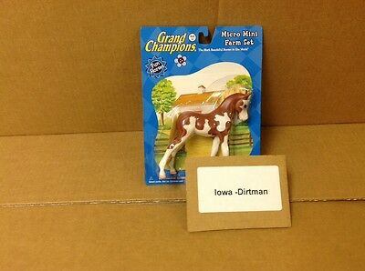 Grand Champions Micro Mini Farm Horse Play Set 50164 Brown And White New Vintage